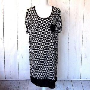 Anne Klein Print Dress Size XL
